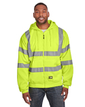HVF021 Berne Men's Berne Hi-Vis Class 3 Lined Hooded Sweatshirt
