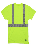 HVK012T Berne Men's Tall Hi-Vis Class 2 Performance Short Sleeve T-Shirt