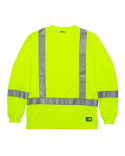HVK013 Berne Men's Hi-Vis Class 3 Performance Long Sleeve Pocket T-Shirt