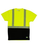 HVK017 Berne Unisex Hi-Vis Class 2 Color Blocked Pocket T-Shirt