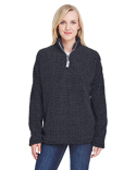 JA8451 J America Ladies' Epic Sherpa 1/4 Zip