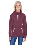 JA8653 J America Ladies' Relay Cowl Neck