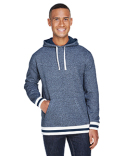JA8701 J America Adult Peppered Fleece Lapover Hood
