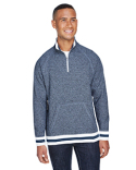 JA8703 J America Adult Peppered Fleece Quarter-Zip