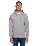 JA8706 J America Ripple Fleece Pulllover Hood