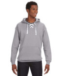 JA8830 J America Adult Sport Lace Hooded Sweatshirt