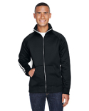 JA8858 J America Adult Vintage Poly Fleece Track Jacket