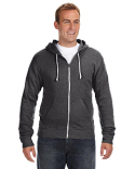 JA8872 J America Adult Triblend Full-Zip Fleece Hooded Sweatshirt