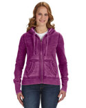 JA8913 J America Ladies' Zen Full-Zip Fleece Hooded Sweatshirt