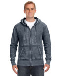JA8916 J America Adult Vintage Zen Full-Zip Fleece Hood
