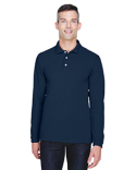 M265L Harriton 5.6 oz. Easy Blend™ Long-Sleeve Polo