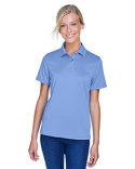 M345W Harriton Ladies' Advantage IL Snap Placket Performance Polo