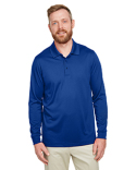 M348LT Harriton Men's Tall Advantage Long Sleeve Snag Protection Plus IL Polo