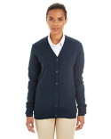 M425W Harriton Ladies' Pilbloc™ V-Neck Button Cardigan Sweater