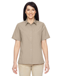 M545W Harriton Ladies' Advantage Snap Closure Short-Sleeve Shirt