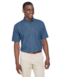 M550S Harriton Men's 6.5 oz. Short-Sleeve Denim Shirt