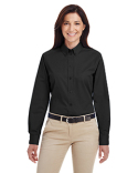 M581W Harriton Ladies' Foundation 100% Cotton Long-Sleeve Twill Shirt with Teflon™