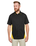 M586 Harriton Men's Flash IL Colorblock Short Sleeve Shirt
