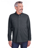 M708 Harriton Adult StainBloc™ Pique Fleece Shirt-Jacket