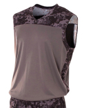N2345 A4 Adult Printed Camo Performance Muscle Shirt