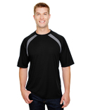 N3001 A4 Men's Spartan Short Sleeve Color Block Crew Neck T-Shirt