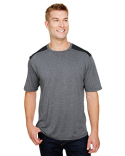 N3100 A4 Men's Tourney Heather Color Block T-Shirt