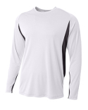 N3183 A4 Men's Long Sleeve Color Block T-Shirt