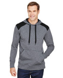 N4093 A4 Men's Tourney Color Block Tech Fleece Hooded Sweatshirt