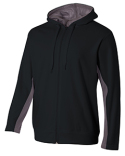 N4251 A4 Adult Tech Fleece Full Zip Hooded Sweatshirt