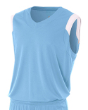 NB2340 A4 Youth Moisture Management V Neck Muscle Shirt