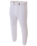 NB6195 A4 Youth Double Play Polyester Elastic Waist With Belt Loops Baseball Pant