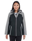 NE700W North End Ladies' Embark Interactive Colorblock Shell with Reflective Printed Panels