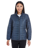 NE701W Ash City - North End Ladies' Portal Interactive Printed Packable Puffer Jacket