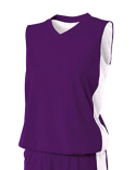 NW2320 A4 Ladies' Reversible Moisture Management Muscle Shirt