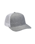 PV102 Adams Heather Woven/Soft Mesh Trucker Cap