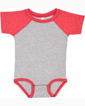 RS4430 Rabbit Skins Infant Baseball Fine Jersey Bodysuit