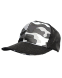 S326 Badger Camo Front Panel Hat