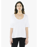 SA2320W American Apparel Ladies' Power Wash Deep U-Neck T-Shirt