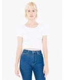 SA8380W American Apparel Ladies' Cotton Spandex Short-Sleeve Crop Top