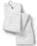 T68TH Towels Plus Deluxe Tri-Fold Hemmed Hand Towel with Center Grommet and Hook