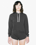 TF3350W American Apparel Ladies' French Terry Garment-Dyed Mid-Length Hooded Sweatshirt
