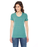 TR301 American Apparel Ladies' Triblend Short-Sleeve Track T-Shirt