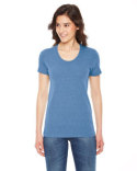 TR301W American Apparel Ladies' Triblend Short-Sleeve Track T-Shirt