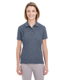 UC100W UltraClub Ladies' Heathered Pique Polo