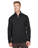UC792 UltraClub Men's Coastal Pique Fleece Quarter-Zip