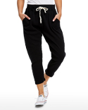 US204 US Blanks Ladies' 2x1 Ribbed Capri Sweatpant