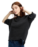 US218 US Blanks Ladies' Open Cross Back Drop Shoulder Sweatshirt