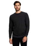 US2211G US Blanks Unisex 6.5 oz. Heavyweight Loop Terry Triblend Long-Sleeve Crew