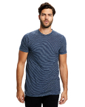 US2404S US Blanks Men's 6 oz. True Indigo Striped Crew