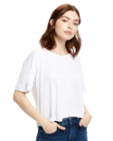 US309 US Blanks Ladies' 4.2 oz. Boxy Open Neck Top